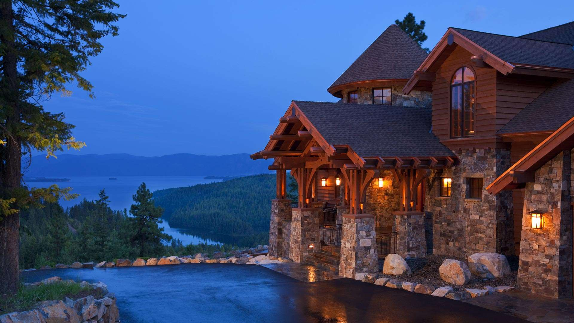 Idaho Mountain Style Home Architects Hendricks