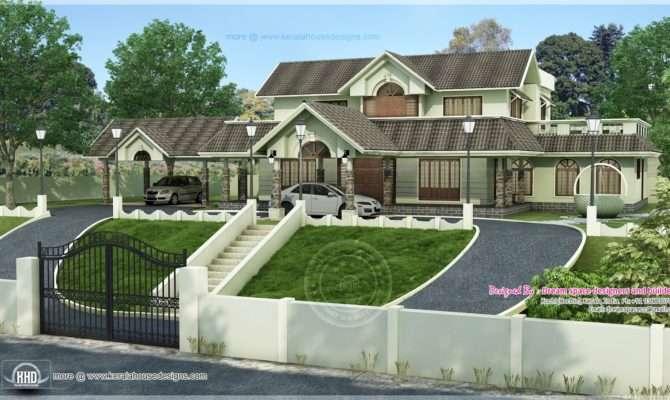 Ideal Home Hillside Plot Above Road Level Kerala