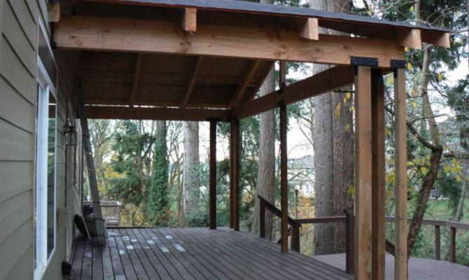 Ideas Design Back Porch Wooden Floor