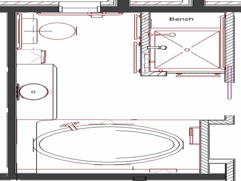 Ideas Master Bathroom Floor Plans Design