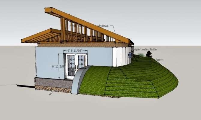 Illustration Shows Carefully Planned Earth Berm Modern Home