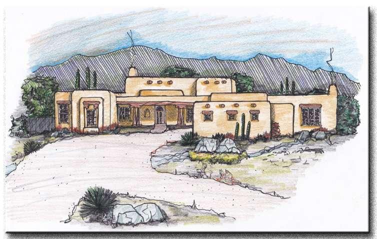 Important Elements Pueblo Style House Plan