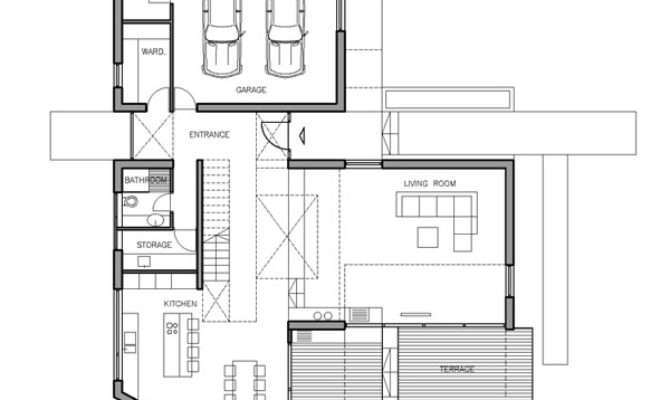 Imposing Contemporary Residence Shaped Floor Plan