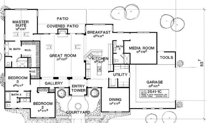 Impressive Hacienda Style House Plans