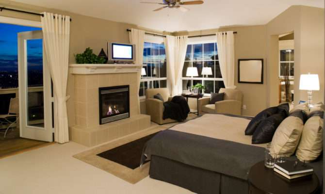 Impressive Master Bedrooms Fireplaces