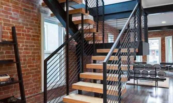 Impressive Modern Stairs Wooden Railing Designs Interior