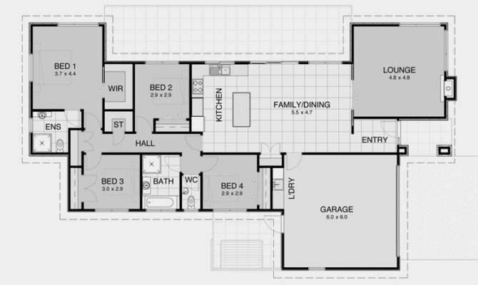 Impressive Simple Open House Plans Bedroom