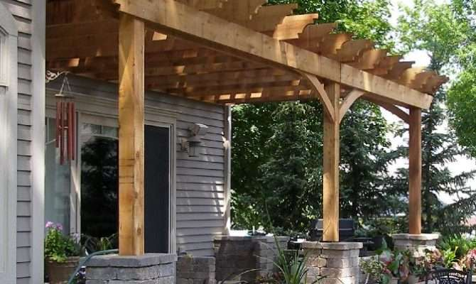 Incredible Pergola Attached House Photos Garden Landscape