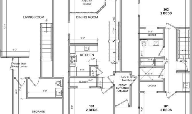 Individual Townhouse Layout Complex House Plans