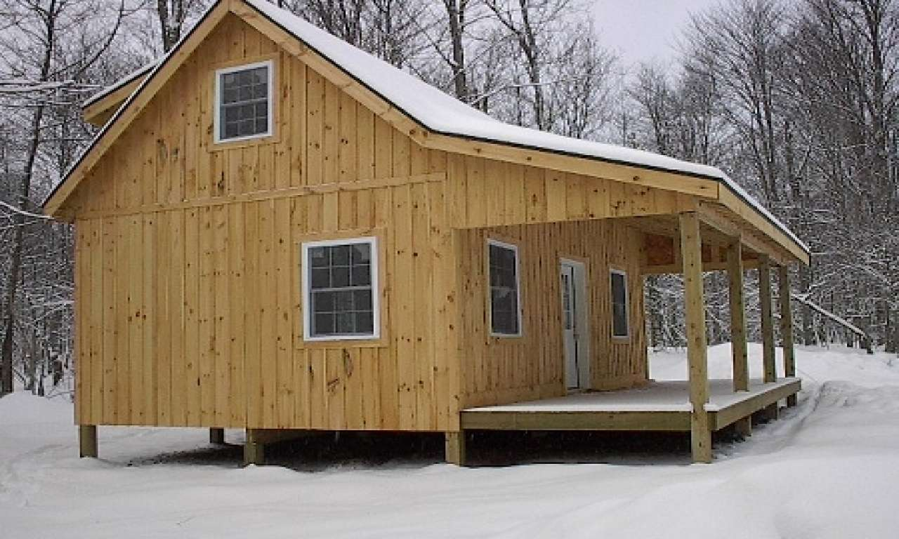Inexpensive Small Cabin Plans Loft