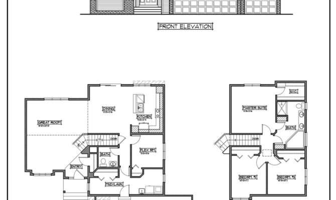 Inspiring Cheap Home Plans Two Story House