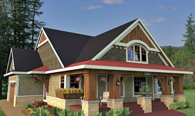 Inspiring House Plans Front Porch Craftsman Style