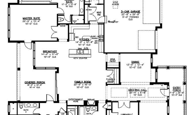 Inspiring Large Kitchen House Plans Floor