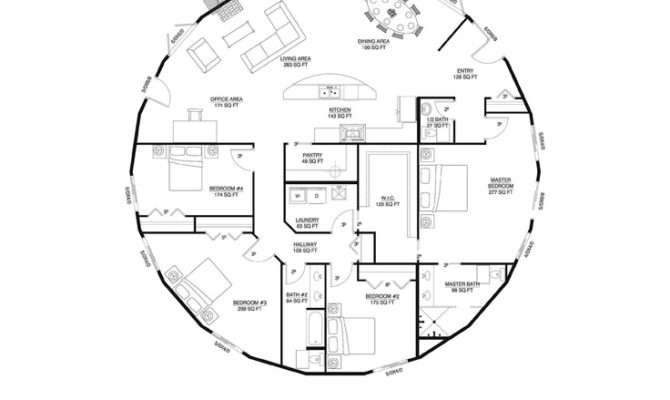 Inspiring Round Home Plans Roundhouse Floor