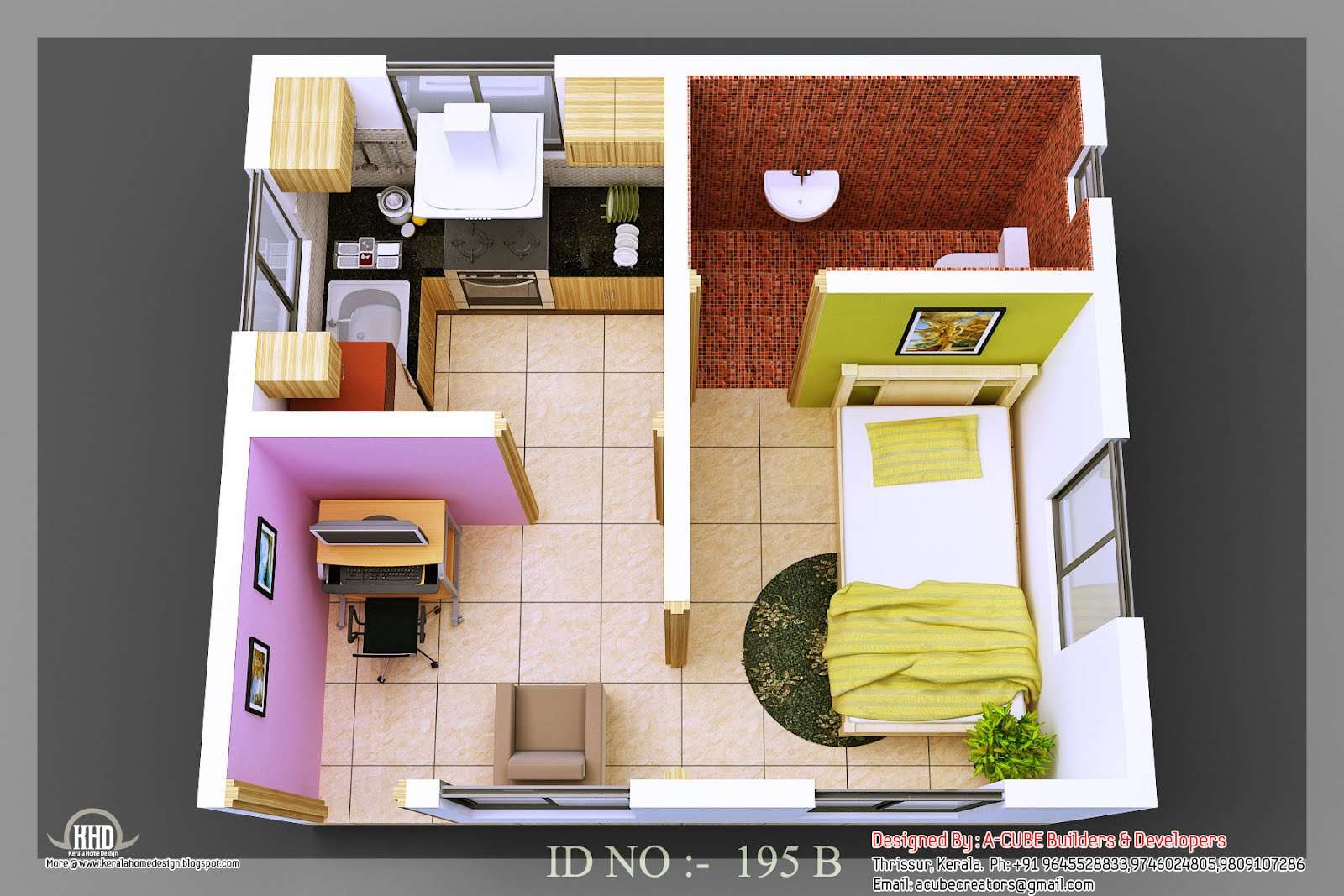Isometric Views Small House Plans Kerala Home