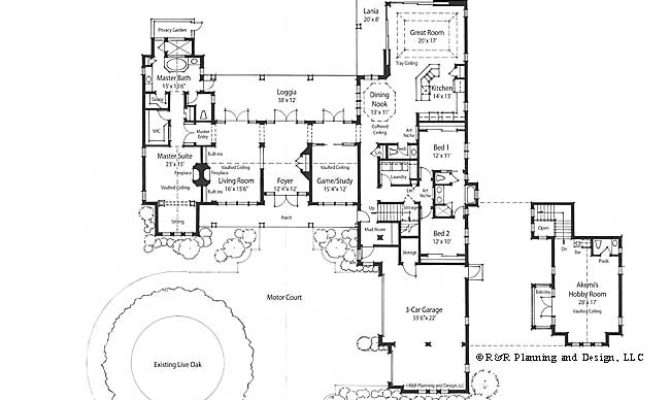 Italian Courtyard Home Plans Also Style House Floor