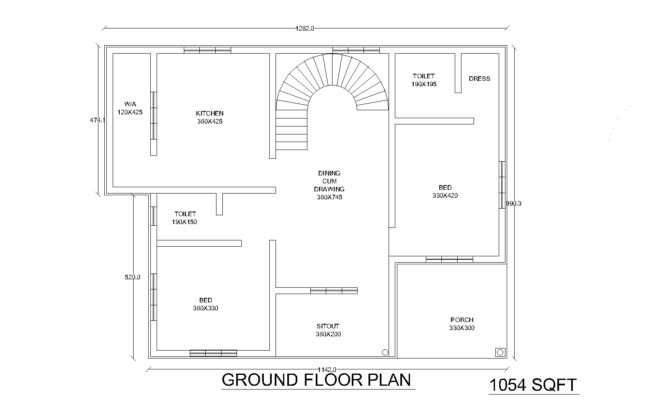 Itu Two Bedroom House Plans Kerala