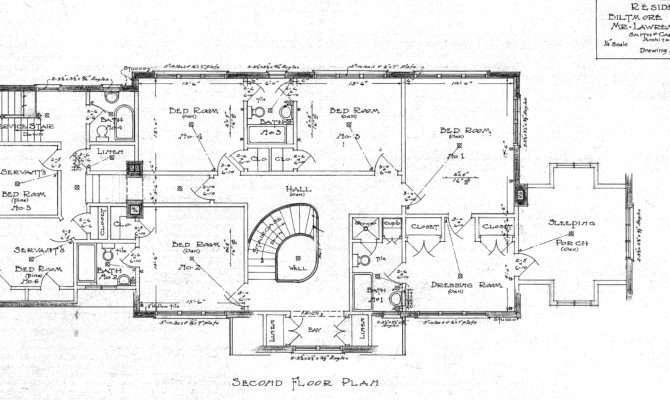 Jones Second Floor Plan Drawing Lawrence House