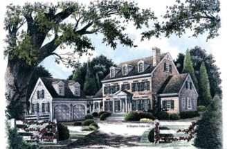 Jpeg Shanendoah Colonial Home Plan House Plans