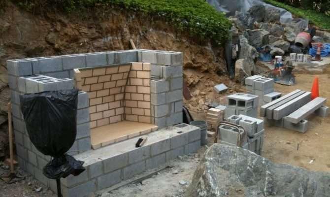 Keenan Construction Excavation Outdoor Fireplace