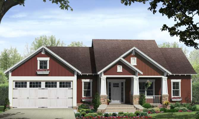 Kelly Leaf Craftsman Ranch Home Plan House