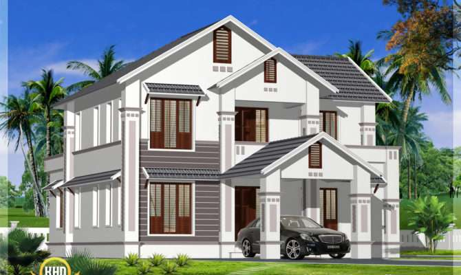 Kerala Model Sloping Roof House Indian Plans