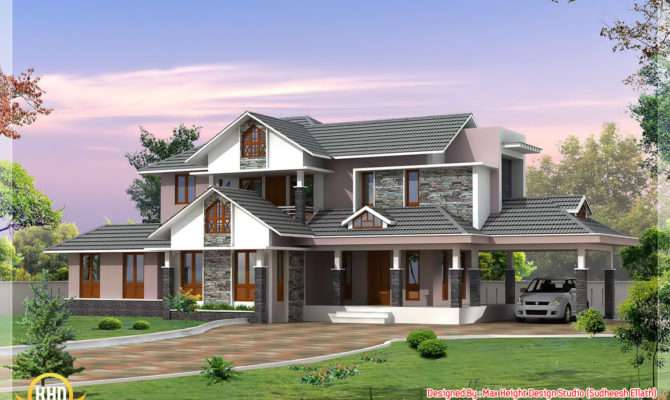 Kerala Style Dream Home Elevations Indian Decor