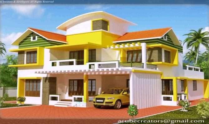 Kerala Style New Model House Youtube