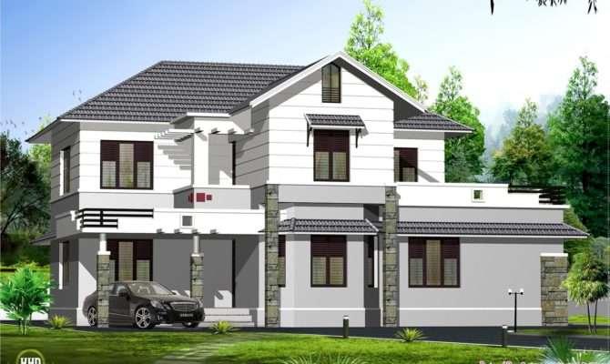 Kerala Style Sloping Roof Villa Design Home