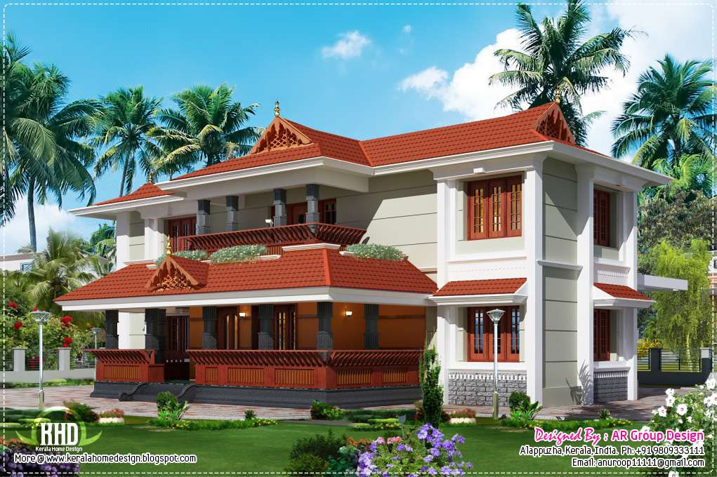 Kerala Traditional Style House Design Second Sun