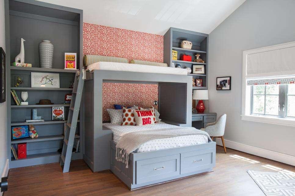 Kids Bunk Bed Bunkroom Design Ideas Diy
