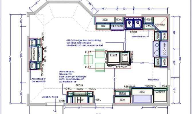 Kitchen Designs Plans Floor Plan
