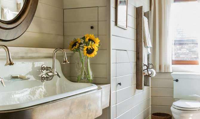 Kohler Brockway Bathroom Farmhouse Black White
