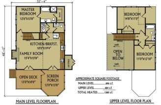 Lake Cabin Floor Plan Eliminate Second Bath Master