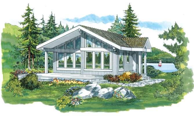 Lake Como Vacation Cabin Home Plan House Plans More