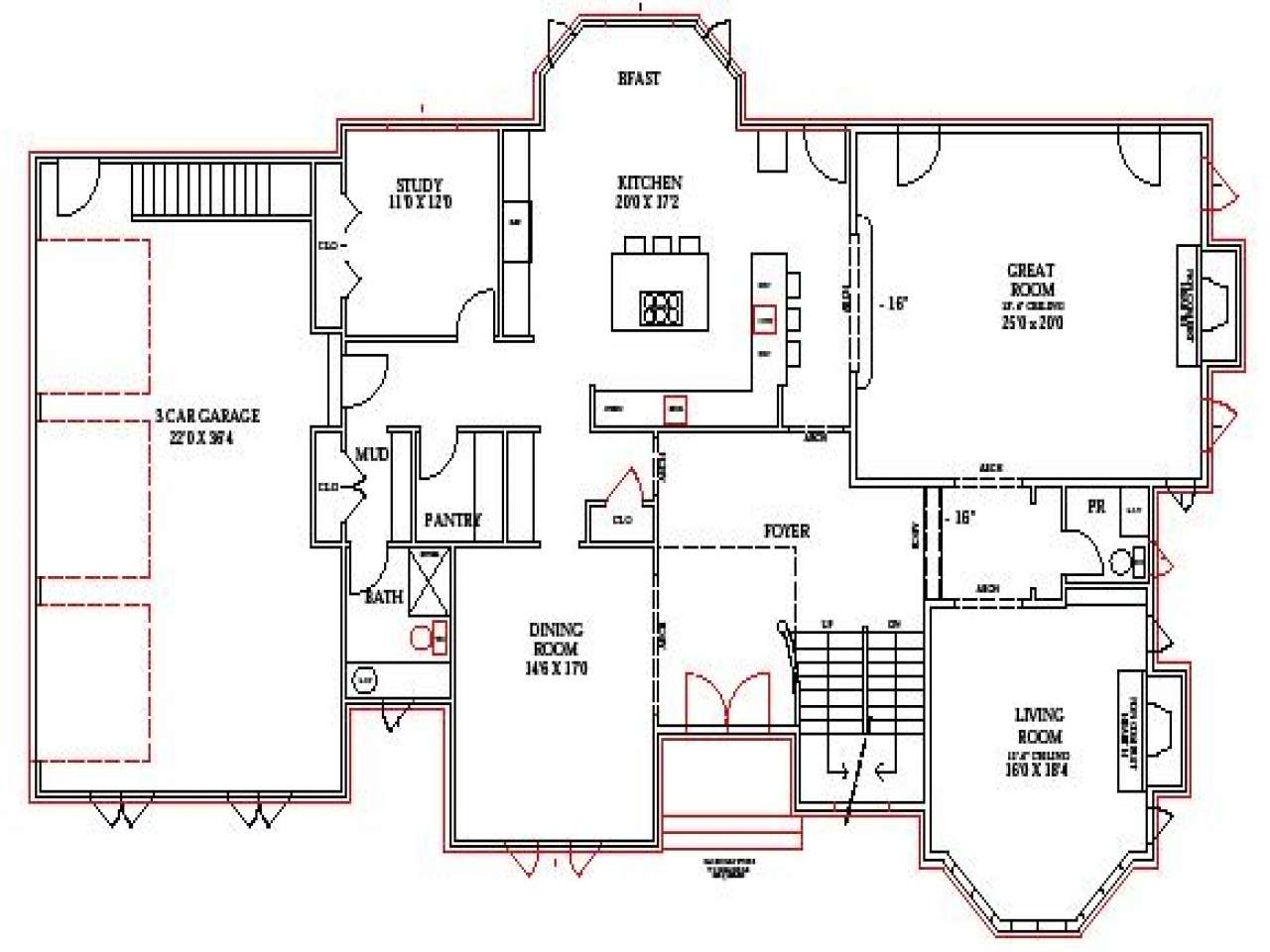 Lake Home Floor Plans House Walkout Basement