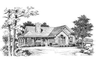 Lake House Plan Front Plans
