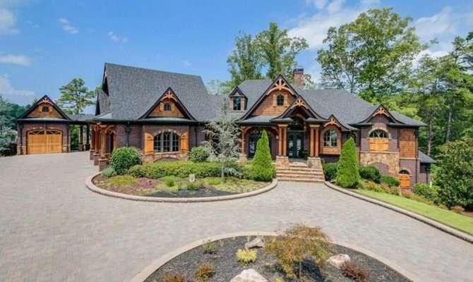 Lakefront Craftsman Style Brick Mansion Gainesville