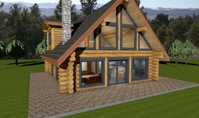 Lakefront Log Cabin Floor Plans