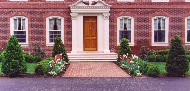 Landscape Example Garden Design Fits Formal Colonial Home