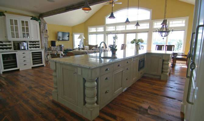 Large Beautiful Kitchens Island Kitchen