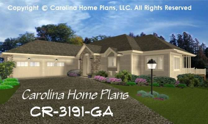 Large Contemporary Ranch Style House Plan Luxury Home