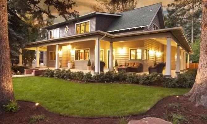Large Front Porch House Plans