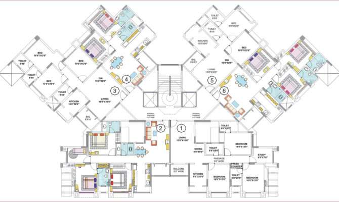 large house floor plans modern - Large House Plans