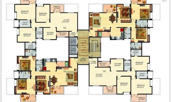 large house plans multi modern feature homescorner - Large House Plans