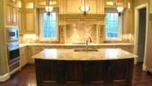 Large Kitchen Island Sink Feat White Cabinets Dark Wood