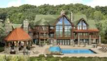 Large Log Home Floor Plan Brick House Plans Bedroom