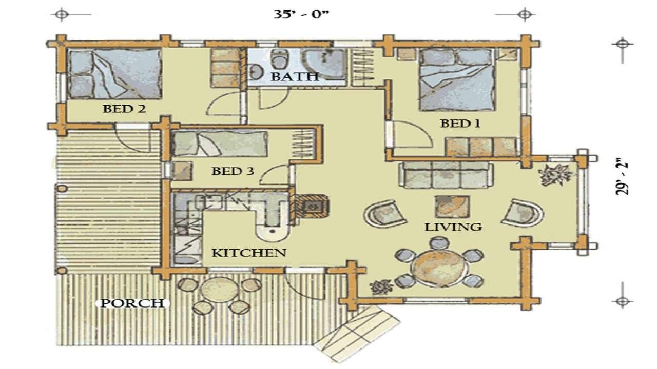 Large Log Home Plans Cabin Floor