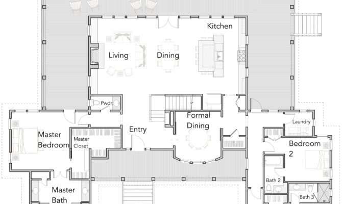 Large Open Floor Plans Wrap Around Porches Rest