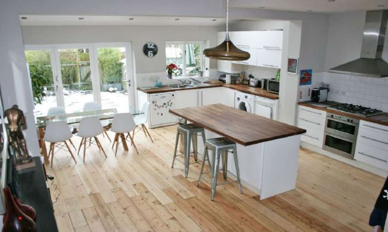 Large Open Plan Kitchen Room Plenty Light